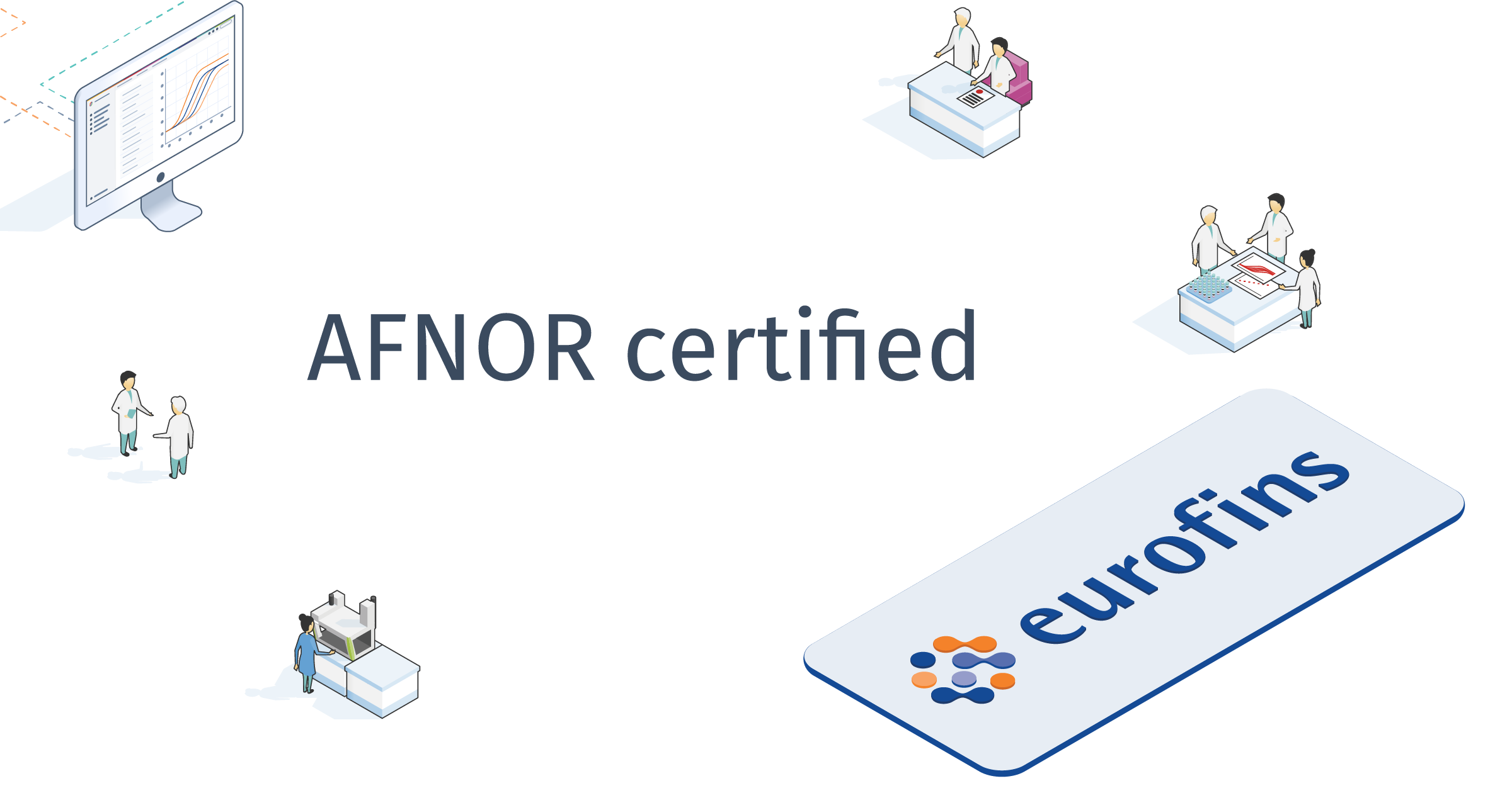 Eurofins successfully certifies kits and software with AFNOR