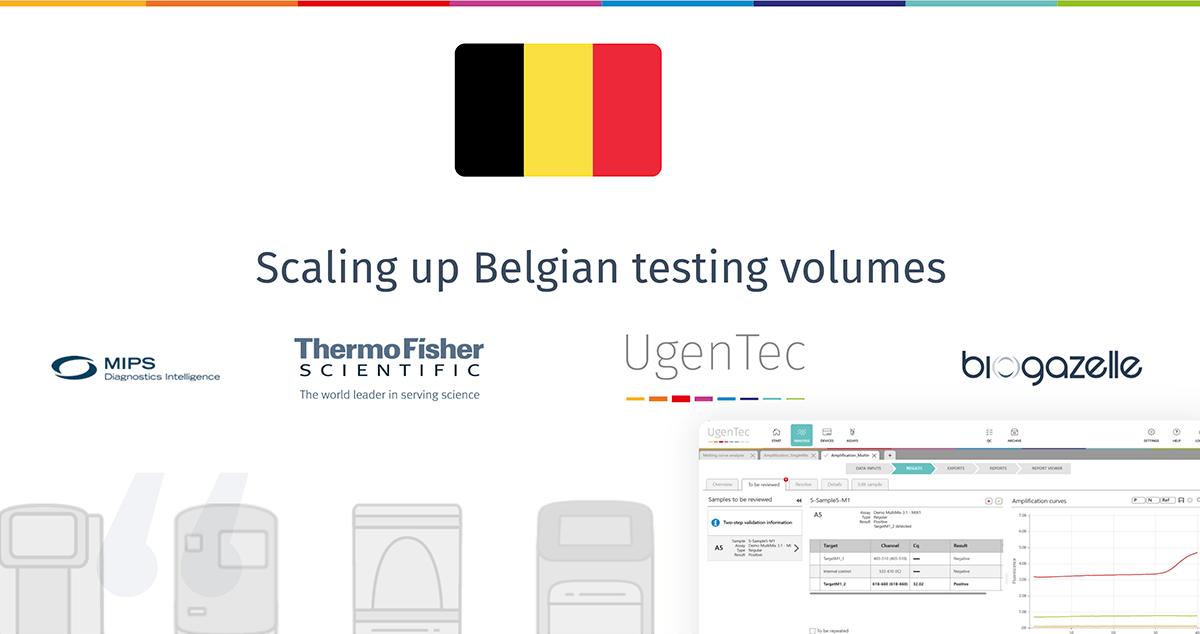 Belgium COVID testing initiative partnership